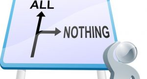 all-or-nothing thinking